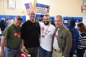 Maj DeStefano, John a veteran we rescued, Tom and Ray.