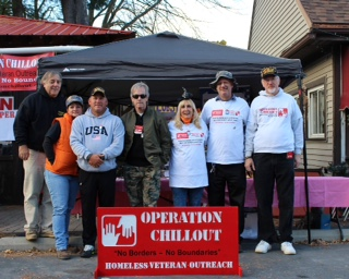 "OCO PA Team at the Halloween bash at ""Petrizzo's Italian American Restaurant"" to support outreach to homeless veterans throughout the Pocono area."