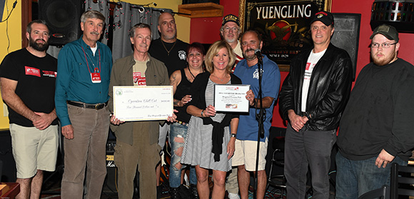 The Original Pocono Pub in Bartonsville, PA awards a generous donation to OPERATION CHILLOUT in support of Pennsylvania regional homeless veterans.