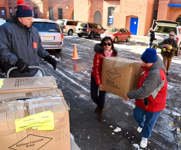 Outreach Team delivering 100 new winter coats to Supportive Services for Veterans and Families (SSVF) in Paterson.